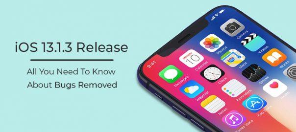iOS 13.1.3 Release